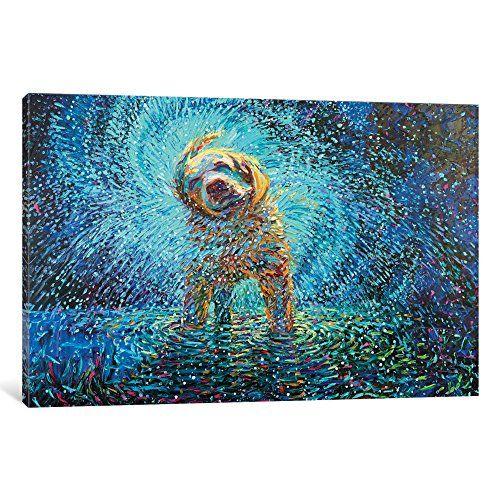 Impression d`art sur toile enveloppée par Labrador Jazz Gallery par Iris Scott