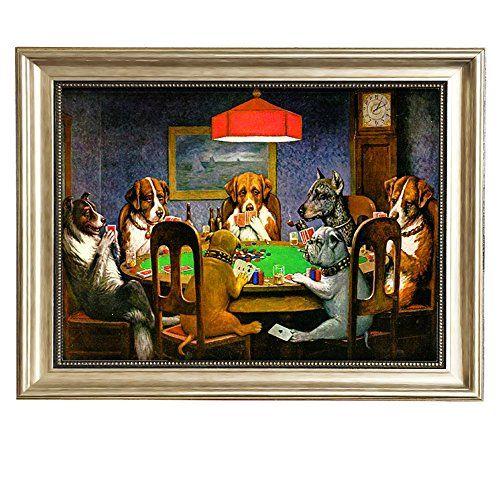 Chiens jouant au poker par Cassius Marcellus