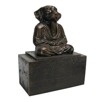 Design Toscano Esprit de Zen Meditating Dog serre-livres