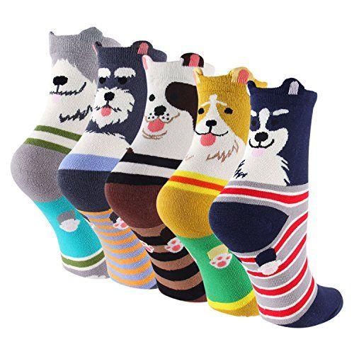 Chaussettes de dessin animé pour chien en coton