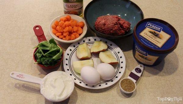 Recette facile d`aliments pour chiens crus