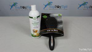 Giveaway: brosse de toilettage d`andis et shampooing de zone de chien heureux (valeur de 33 $ +)