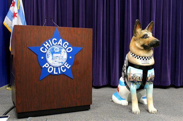 Des centaines de statues de chien honoreront les policiers et les partenaires de k9