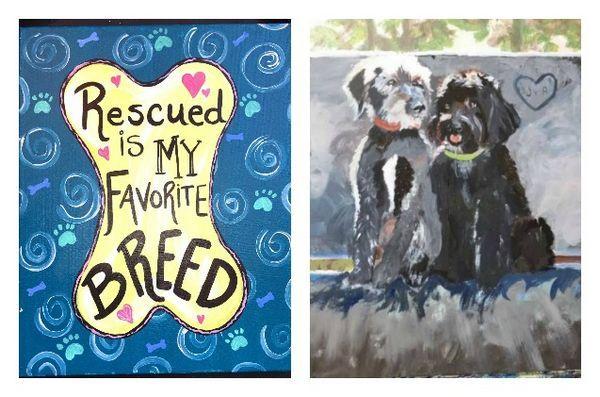 Peindre un portrait d`animal de compagnie pour soutenir la fondation de streetdog