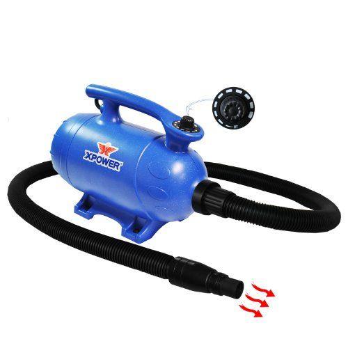 Séchoir et aspirateur pour animaux de compagnie 2 en 1 à vitesse variable 4 HP Xpower B-5