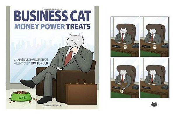 Meowy Catmas cadeaux pour les chats et les fans de félins: argent de chat d`affaires, puissance, friandises