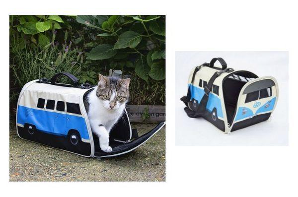 Meowy Catmas Cadeaux pour les chats et les fans de félins: VW Campervan Pet Carrier