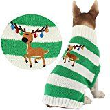 HAPEE Pet Clothes le chandail de chien de wapiti de Noël