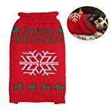 Pull pour chien à motif de flocon de neige de Noël de Pupteck