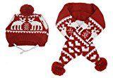 Ensemble écharpe et chapeau de renne de Noël Alemon's Pet Xmas Knit