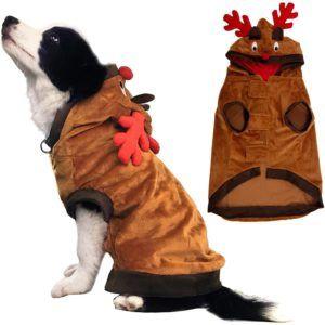 Costume de chien de Kooltail Funny Reindeer Coat