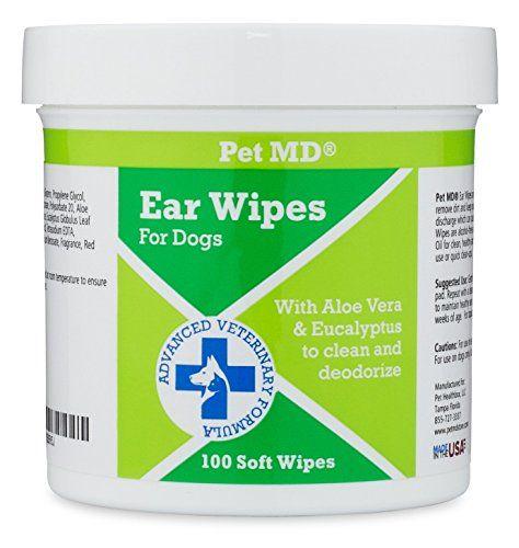 Lingettes nettoyantes pour oreilles de chien Pet MD