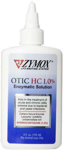 Traitement des oreilles Zymox Otic Pet avec hydrocortisone